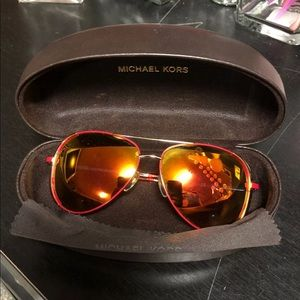 Like new red Michael Kors aviators